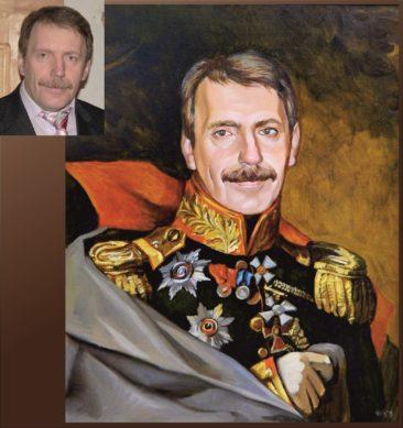 Настоящий портрет маслом на заказ в Бишкеке…