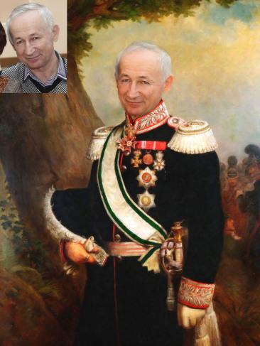 Где заказать исторический портрет по фото на холсте в Бишкеке?