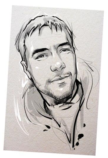 Портрет карандашом любимому мужу в Бишкеке…