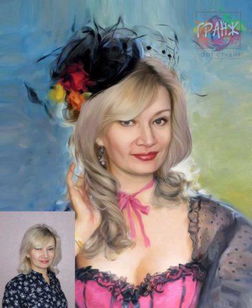 Заказать арт портрет по фото на холсте в Бишкеке